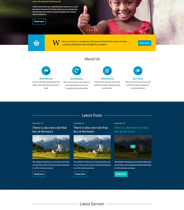 free wordpress theme for church