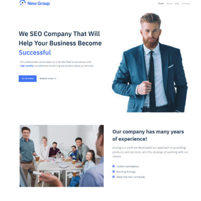 business group free wordpress theme