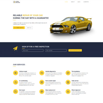 car repair free wp theme