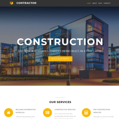civil engineering free wordpress theme