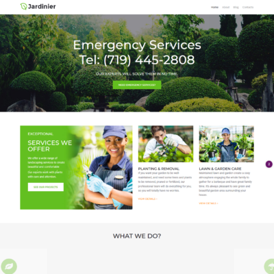 free gardening wordpress theme