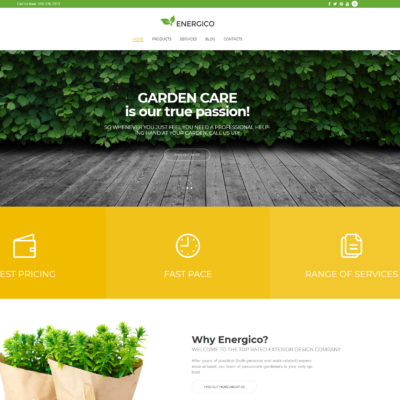 free agriculture wordpress theme