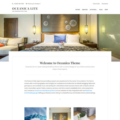 free hotel and travel wordpress theme