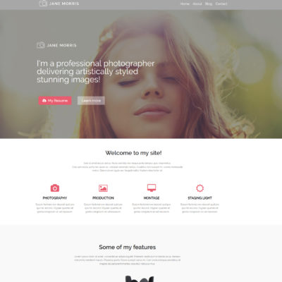 free photo portfolio wordpress theme elementor
