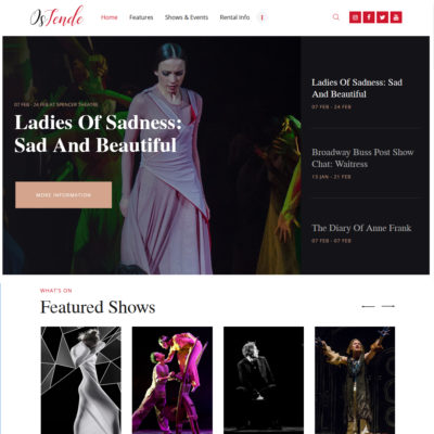 Free Theater WordPress theme